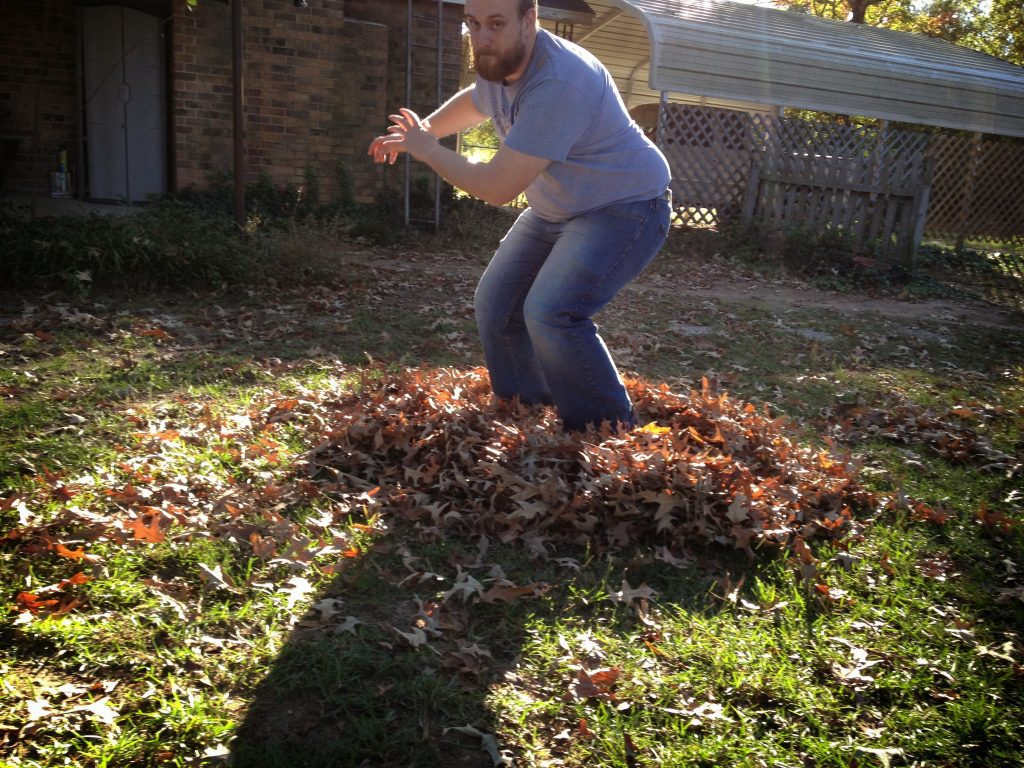 A heart full of leaves - Poem Aaron Blakeley - Aaron Blakeley in leaves.