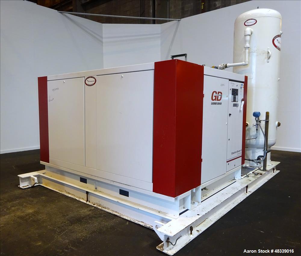 medium resolution of used gardner denver electra saver ii air cooled rotary screw air compressor