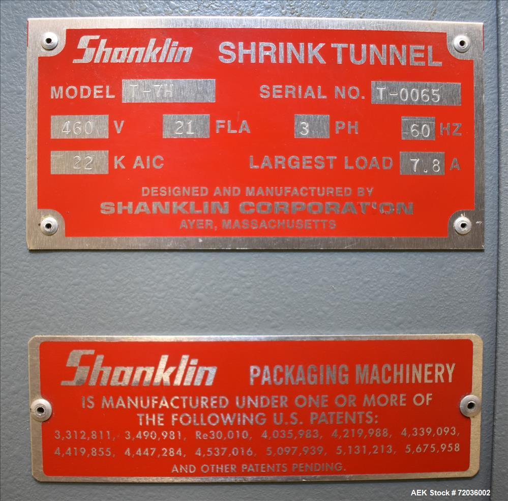hight resolution of used shanklin model t 7h shrink tunnel
