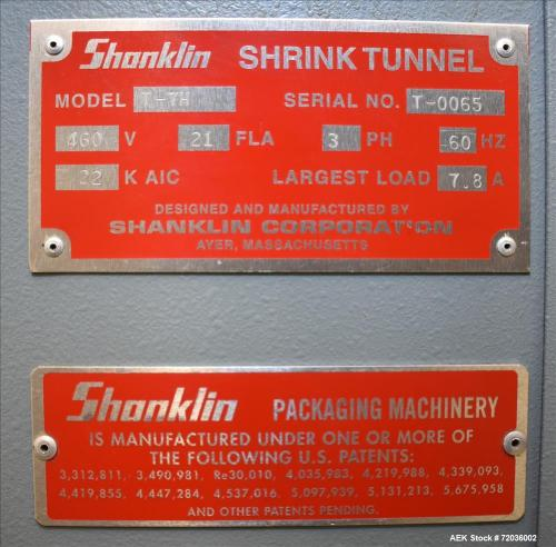 small resolution of used shanklin model t 7h shrink tunnel
