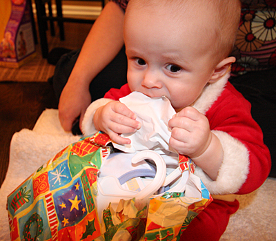 The best part of opening presents