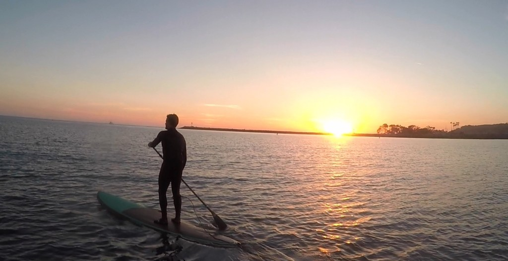 Stand UP Paddle at Dana Point CA sunset fading