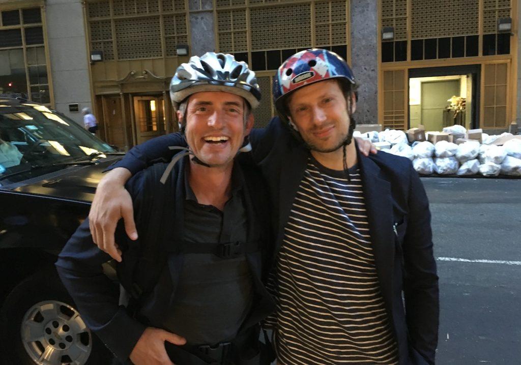 Stefan Loble taking me on a NYC Tandem Bike Tour