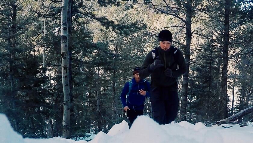 Kyle leading the charge up Eagle Peak