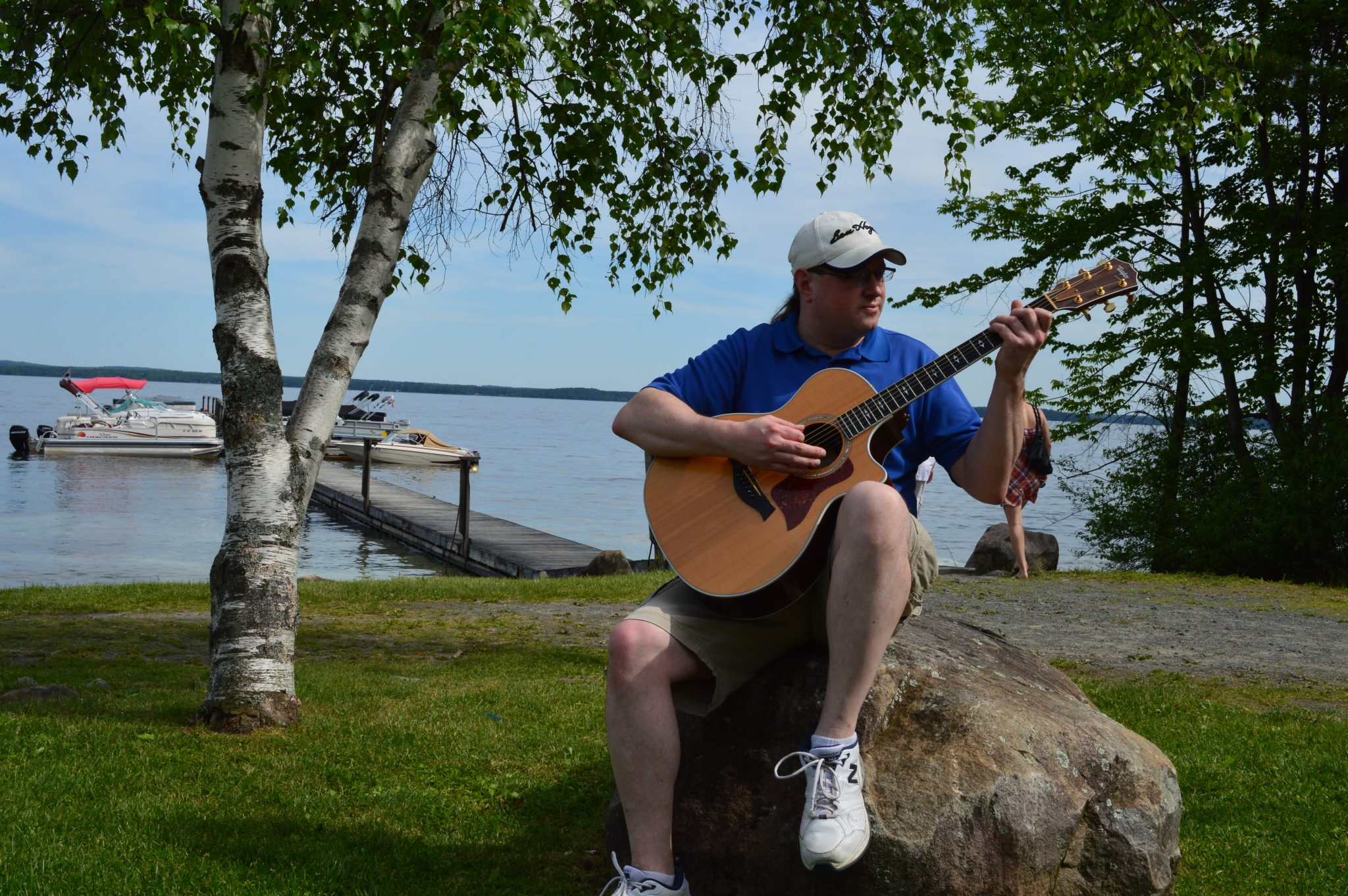 Aaron playing by the Great Sacandaga Lake