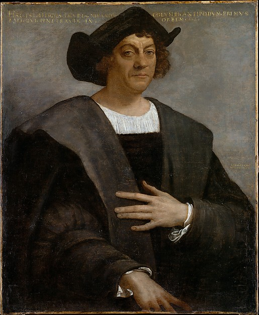 Columbus-Piombo painting
