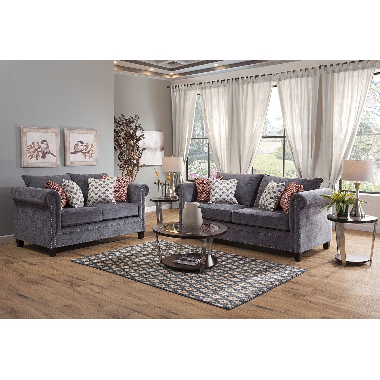 Rent To Own Woodhaven 2 Piece Royanna Living Room Collection At Aaron S Today
