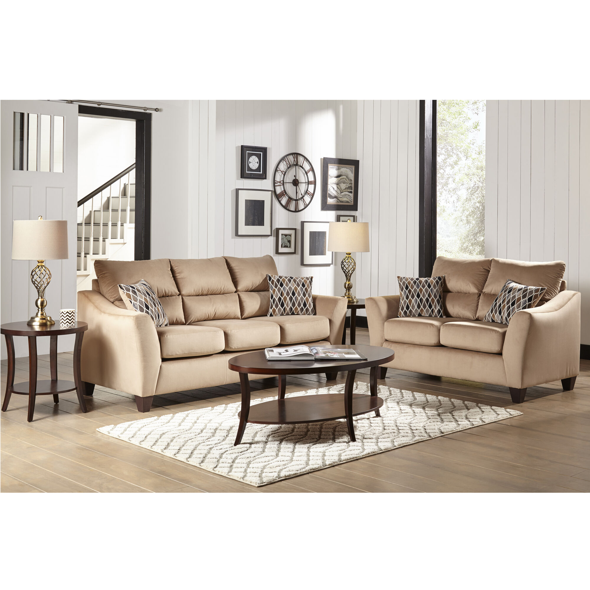 woodhaven living room furniture grey decor industries sofa & loveseat sets 2-piece camden ...