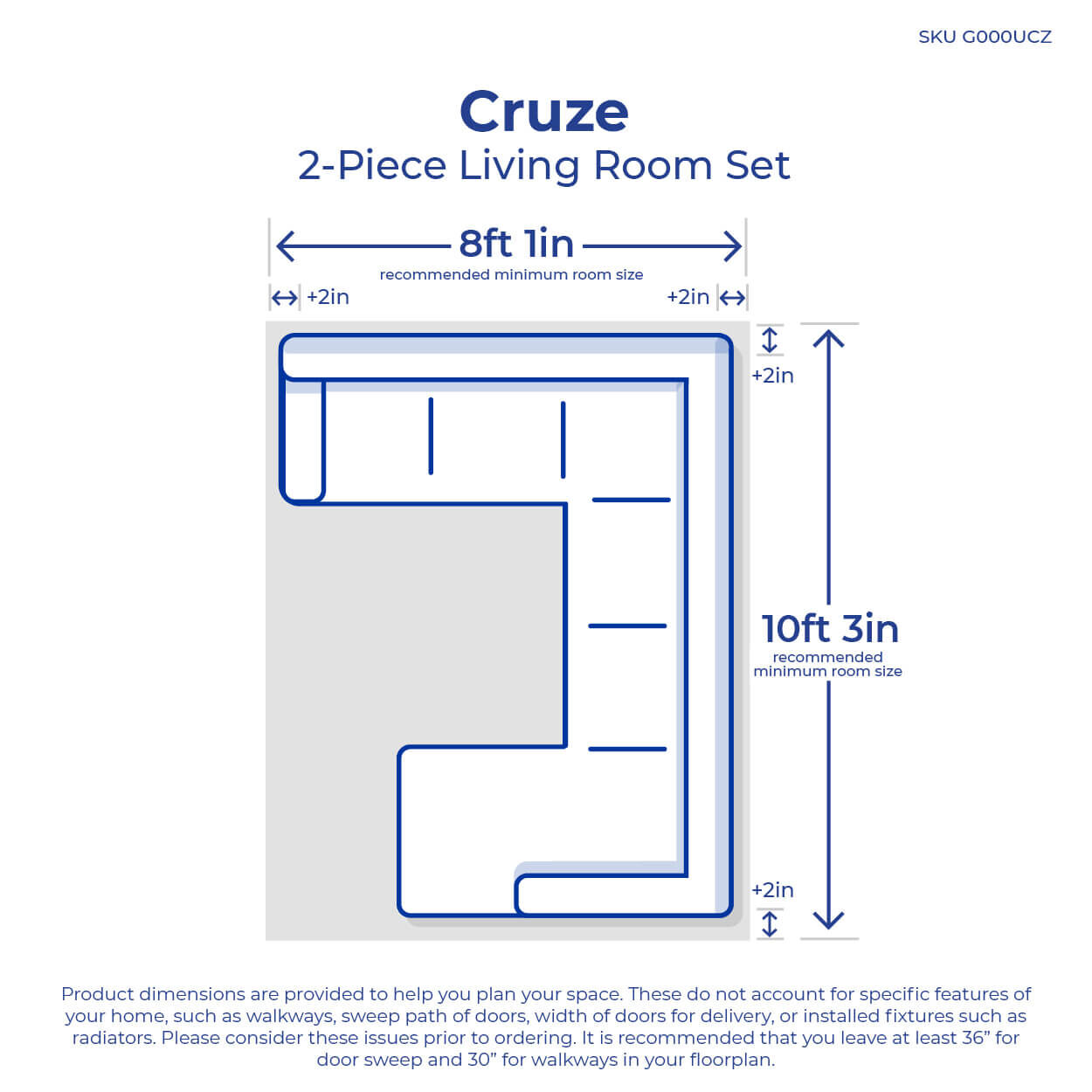 small resolution of 2 piece cruze living room collection