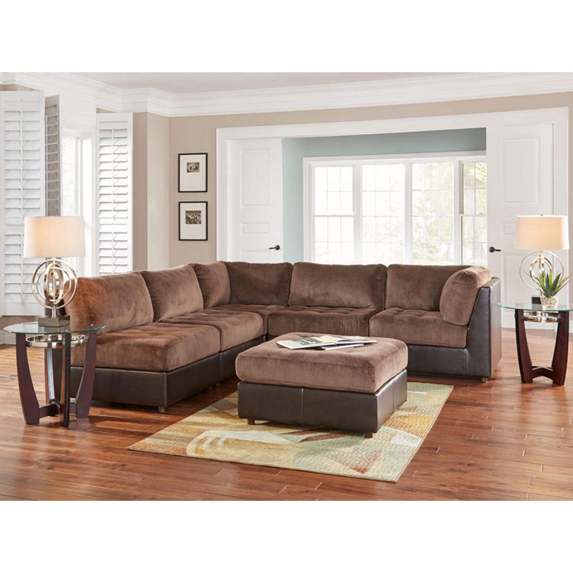 Woodhaven Industries Sectionals 6Piece Hennessy Living