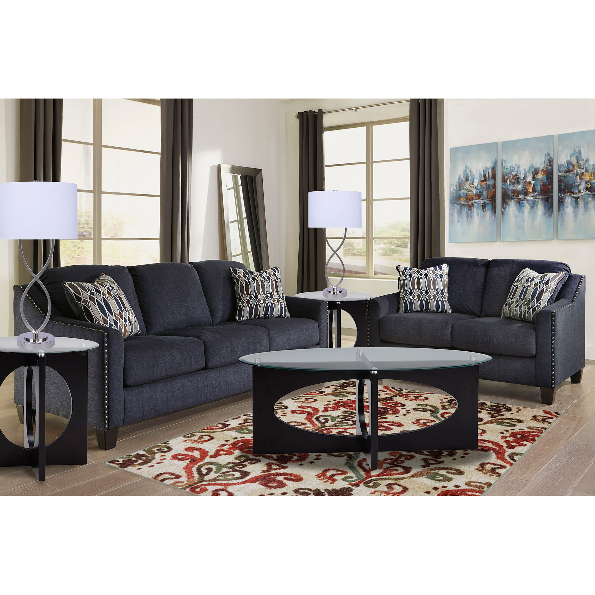 sofa bed living room sets end table rent to own loveseats sofas and couches aaron s 2 piece creeal heights collection
