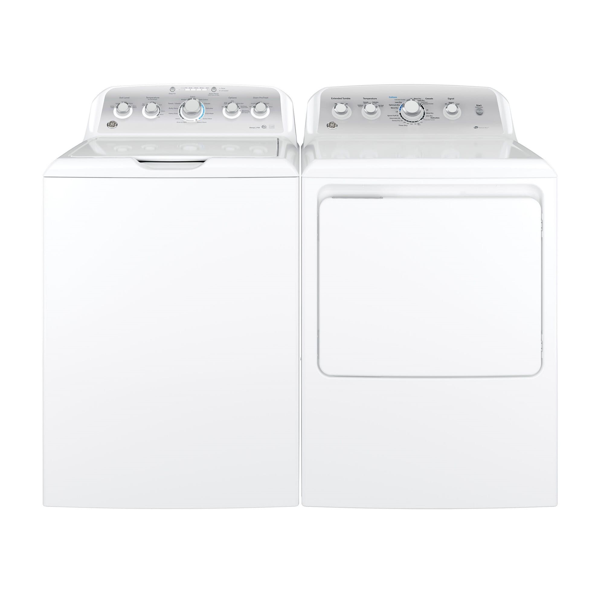 medium resolution of ge appliances washers dryers 4 4 cu ft he top load washer 7 2 cu ft electric dryer