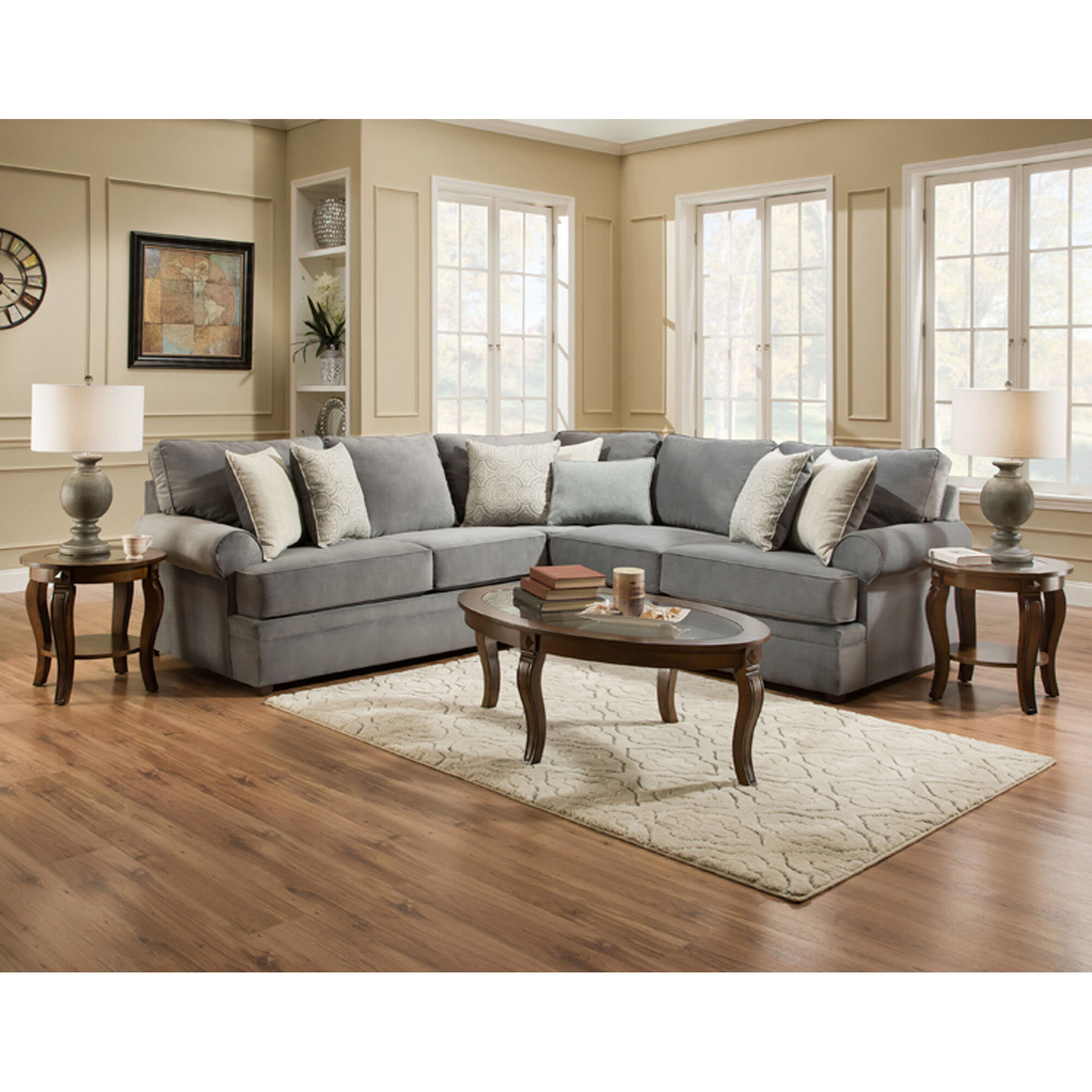 Lane Sectionals 2Piece Naeva Living Room Collection Sectional
