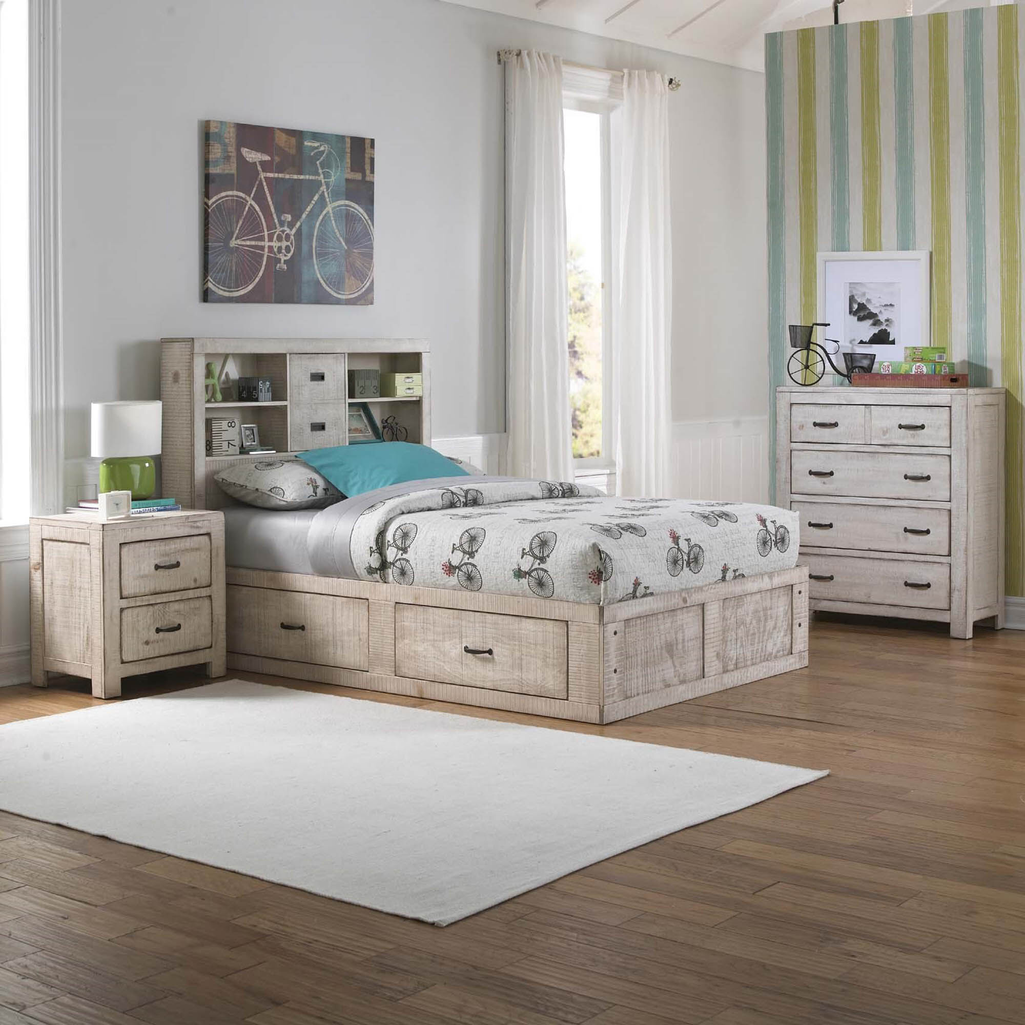 Oak Furniture West Bedroom Groups 6Piece Captains Youth