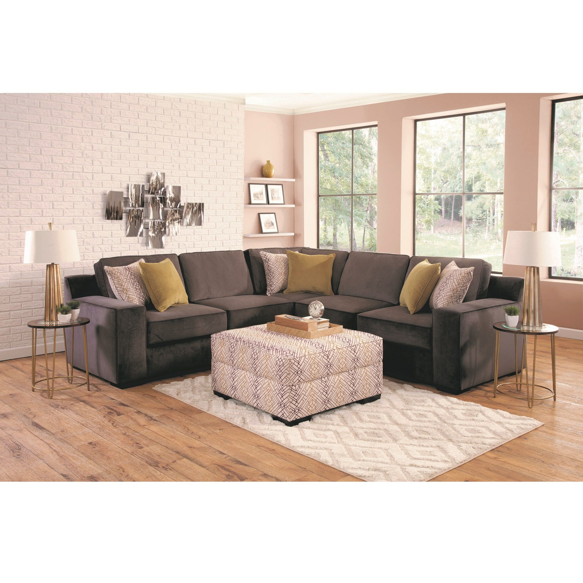 Woodhaven Industries Sectionals 4 Piece Sonja Living Room