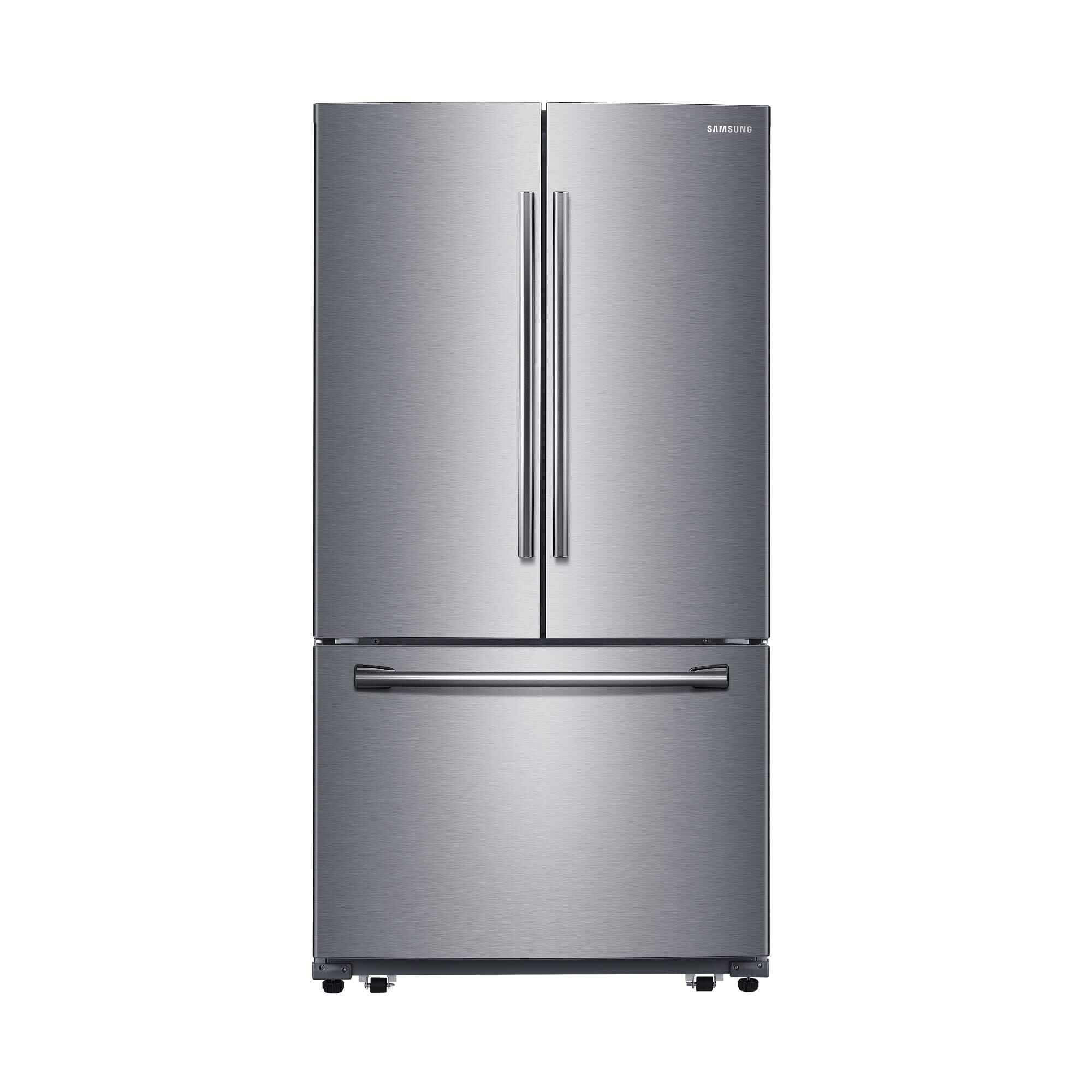kitchen refrigerator free standing island rent to own french door and side by refrigerators aaron s with filtered ice maker stainless steel