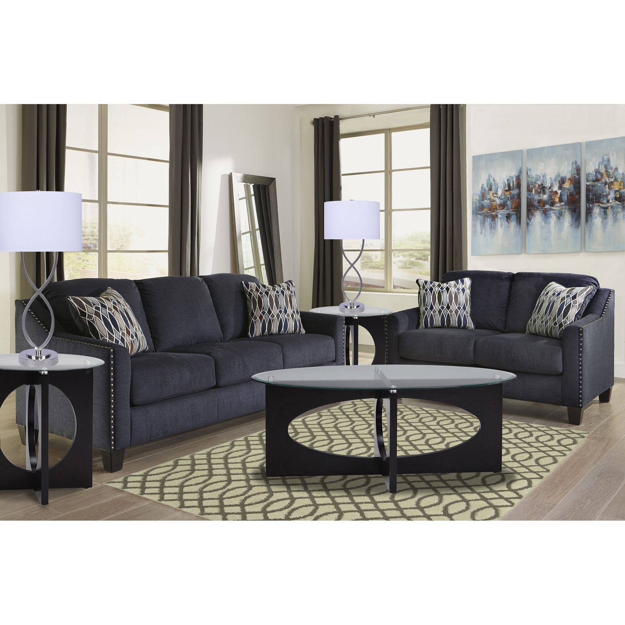gray furniture in living room house beautiful designs rent to own aaron s 7 piece creeal heights collection