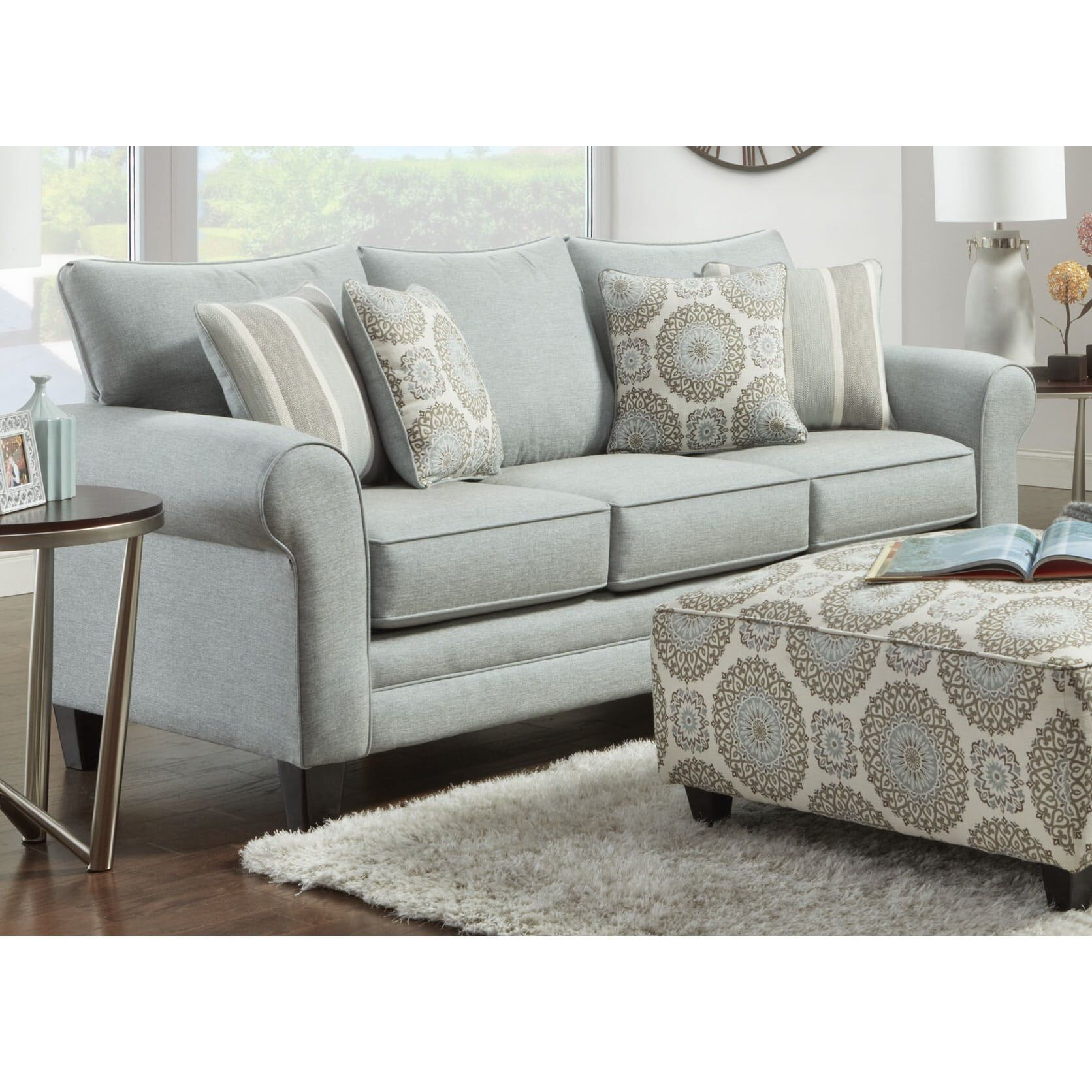 3 piece lara living room collection with loveseat
