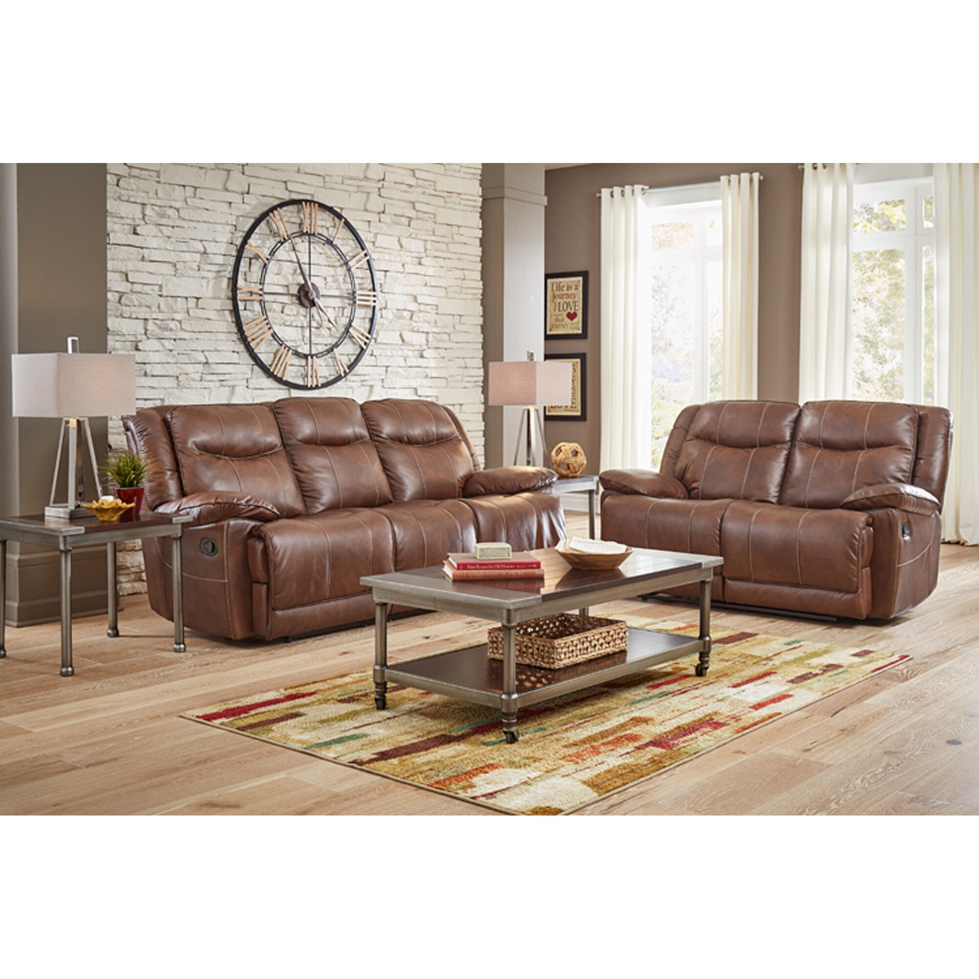 rugs to go with brown leather sofa seafoam colored sofas amalfi living room sets 7-piece barron reclining ...