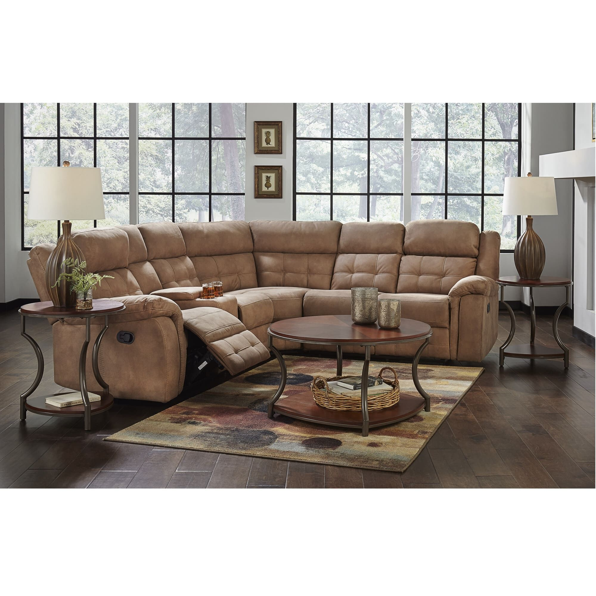 affordable modern living room sets cheap seating rent to own furniture aaron s 3 piece cobalt reclining sectional collection