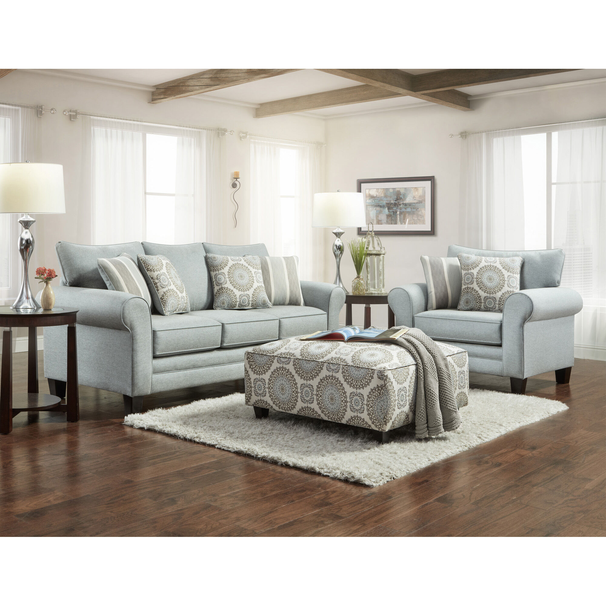 Fusion Furniture Living Room Sets 3Piece Lara Living Room Collection