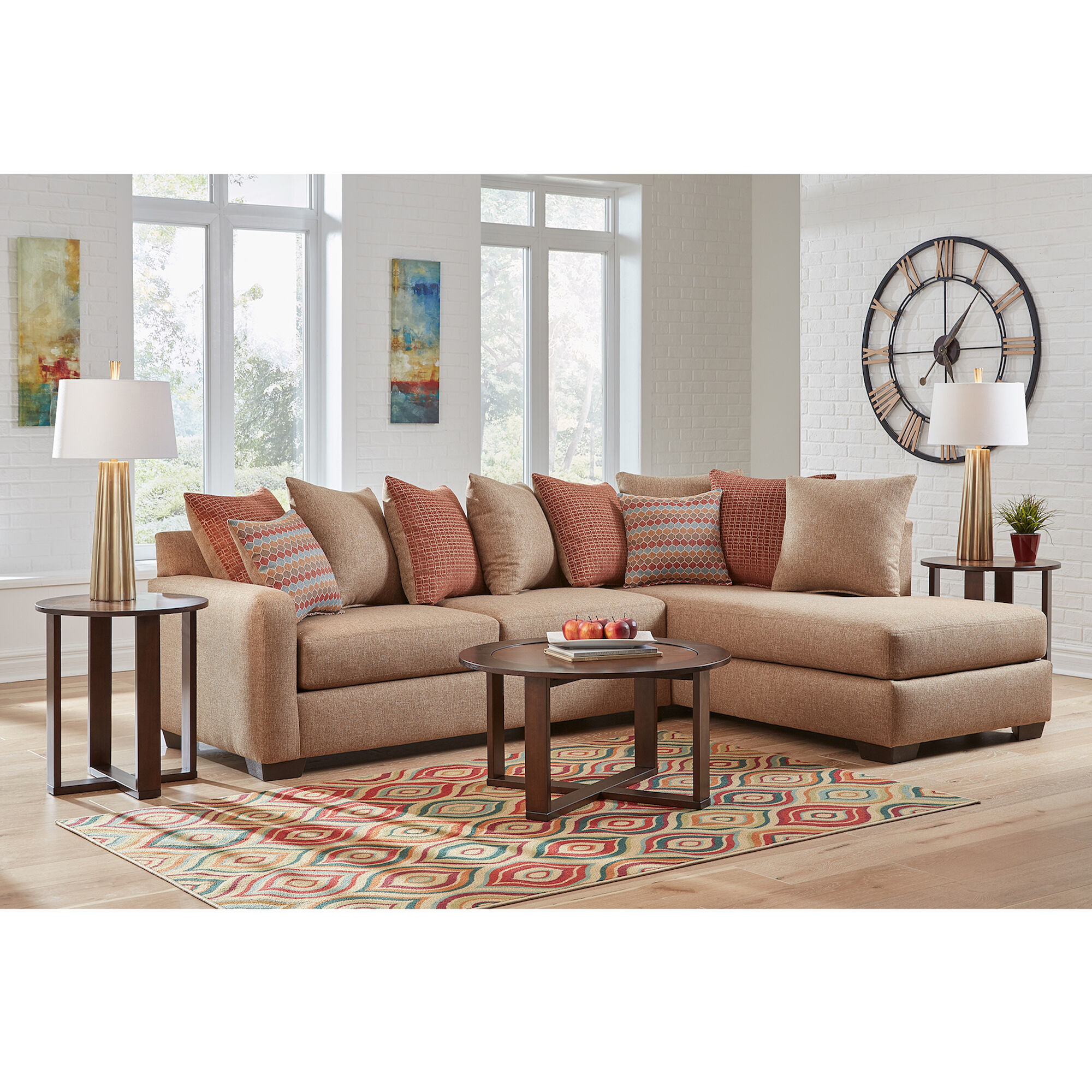 Woodhaven Industries Living Room Sets 7Piece Casablanca