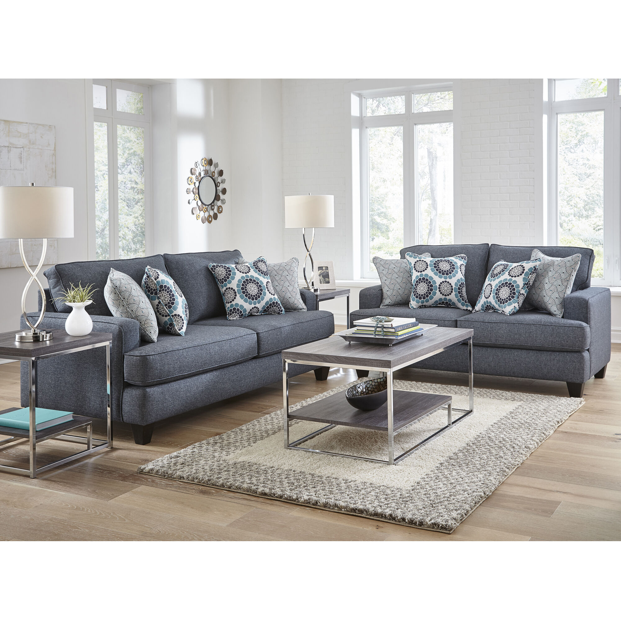 Woodhaven Industries Sofa  Loveseat Sets 2Piece Carmela
