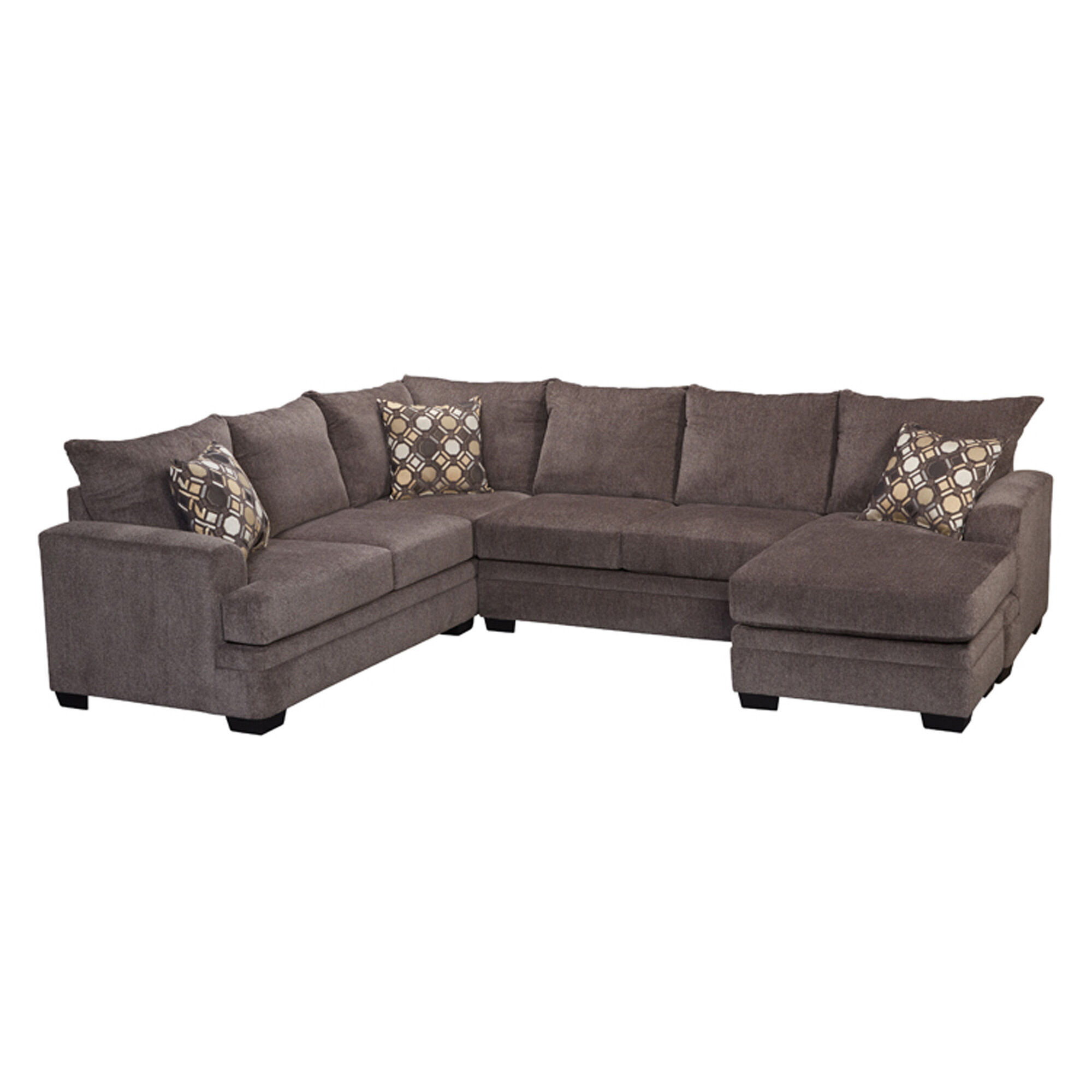 dark grey sectional sofa with chaise brandon distressed whiskey italian leather and chair rent to own sofas couches aaron s 2 piece kimberly living room collection