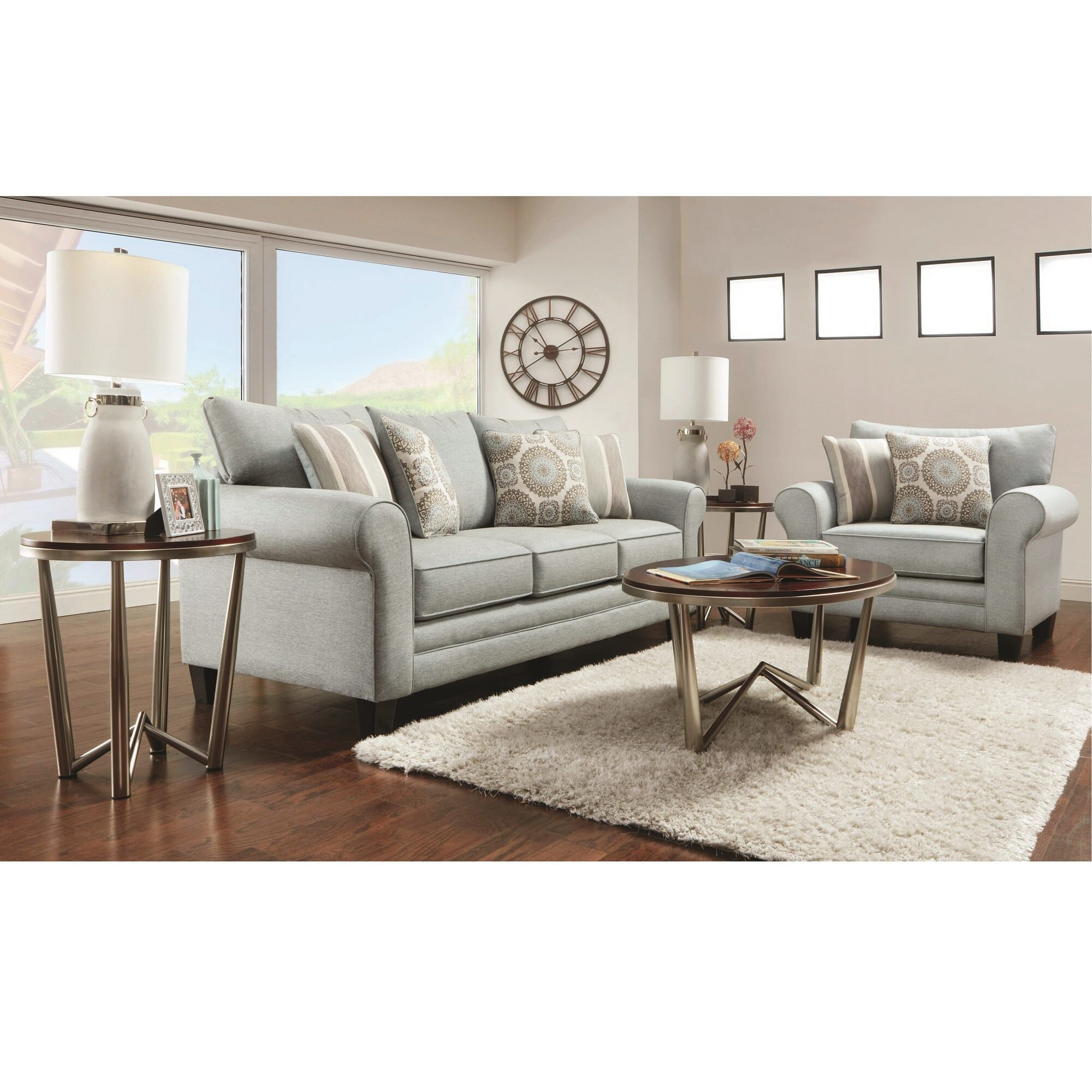 Fusion Furniture Living Room Sets 2Piece Lara Living Room