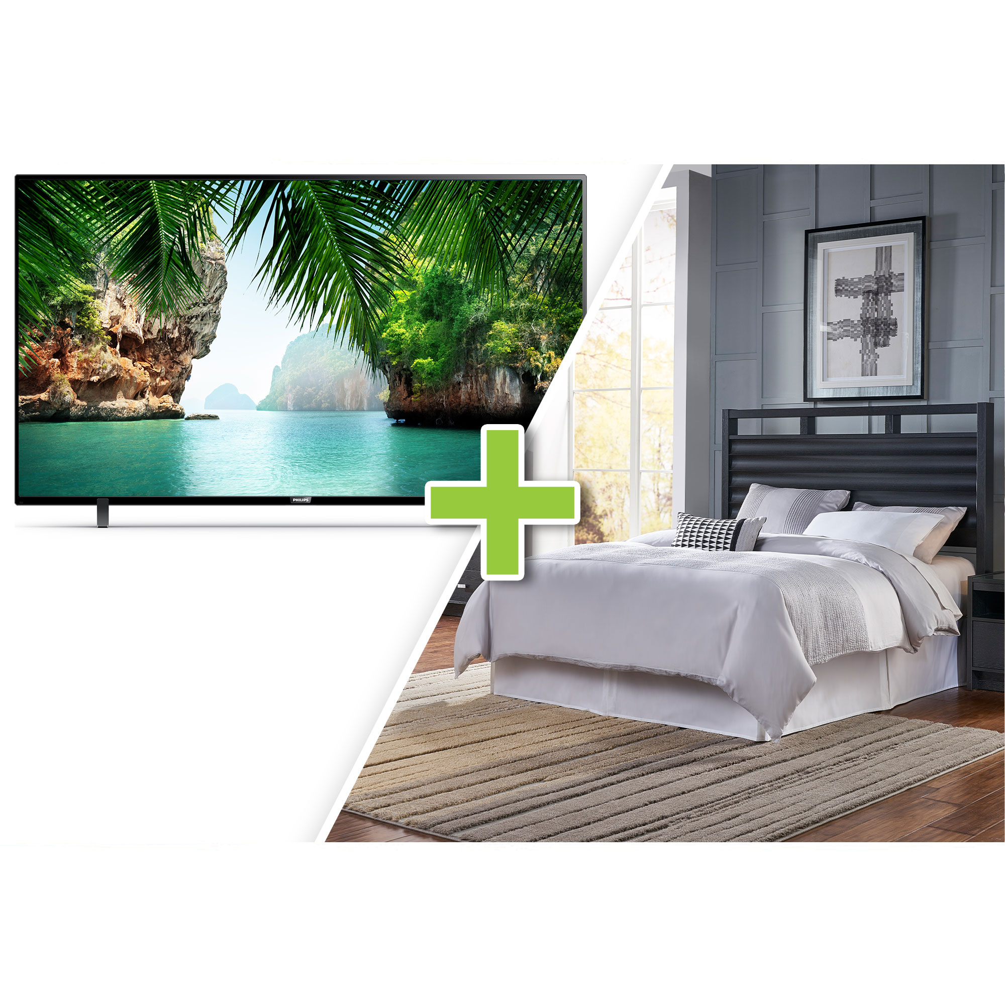 Rent To Own Philips 50 Class 4k Uhd Smart Tv And 5 Piece Soho Queen Bedroom Collection At Aaron S Today