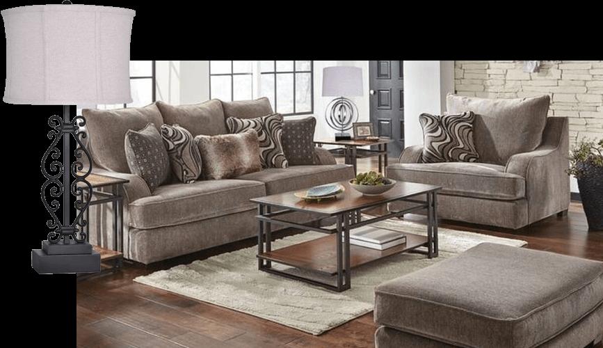 rustic living room aaron