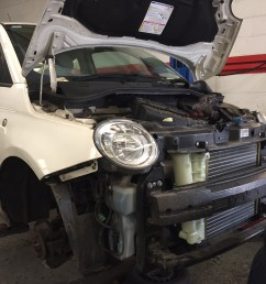 this fiat 500 came into us for a service and during our inspection it soon became apparent it had issues with its cooling system the coolant header tank  [ 1632 x 1224 Pixel ]