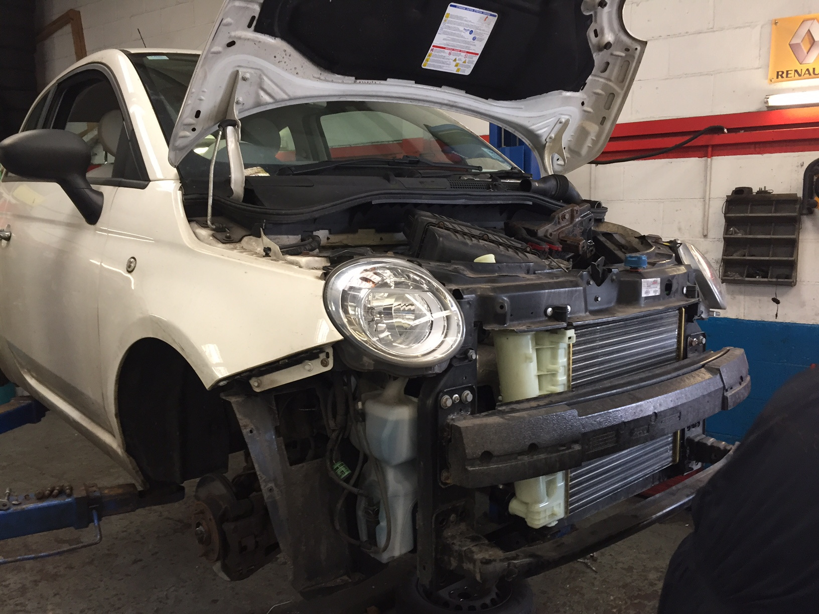 hight resolution of this fiat 500 came into us for a service and during our inspection it soon became apparent it had issues with its cooling system the coolant header tank