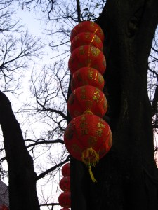 Lanterns for Chinese New Year at Buddhist Temple, Guangzhou