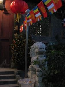 Lion Guarding Buddhist Temple, Guangzhou
