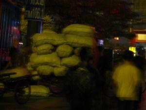 Rice Beng Loaded Onto Bikes, Guangzhou