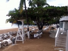 View of main beach from SCUBA desk