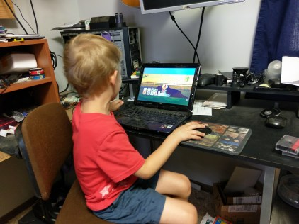 Nolan's first computer game
