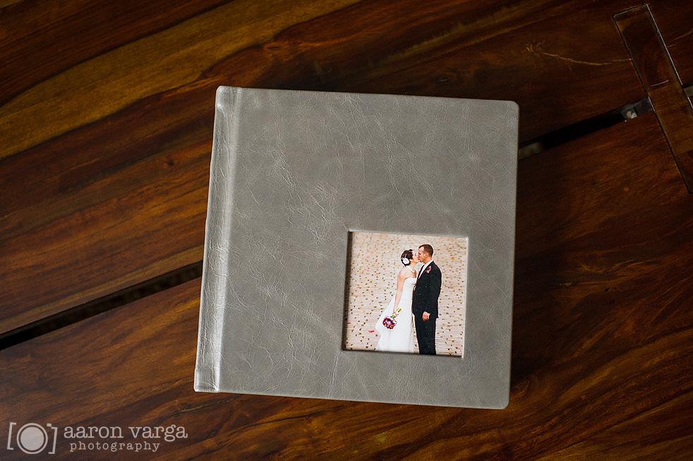 Gray Leather Flush Mount Wedding Album  Finao Wedding Album