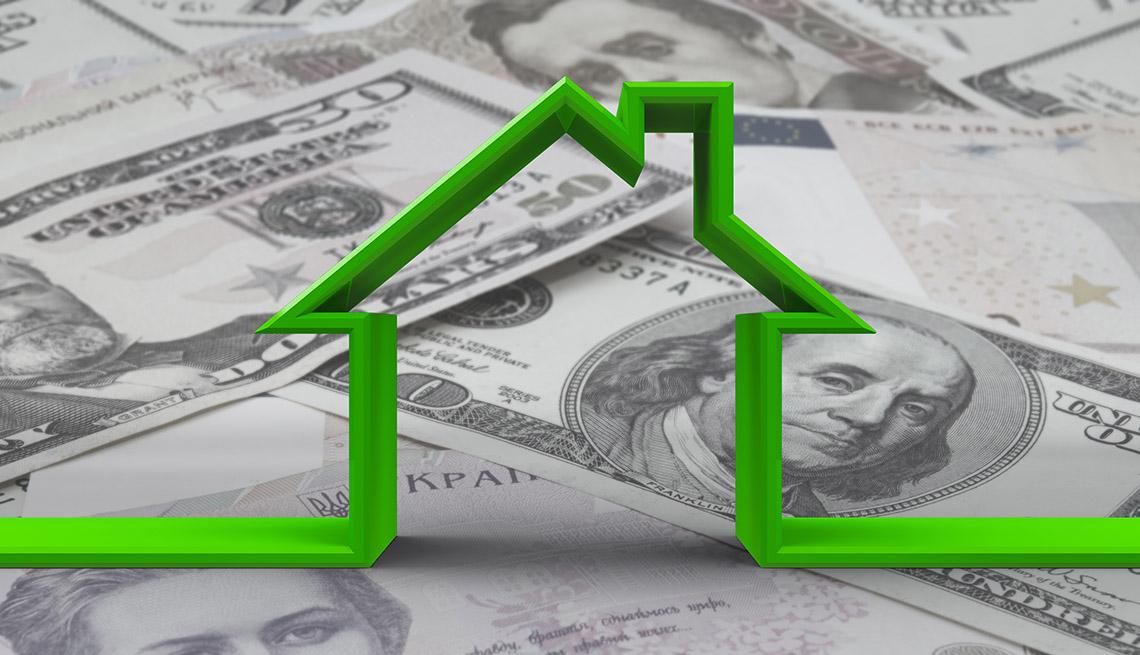Los resultados de la estimación o. Dinero en efectivo de la hipoteca de tu vivienda