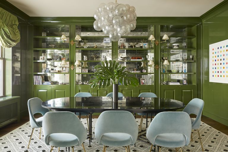 Moss green dining room - An infallible guide to choosing the right paint