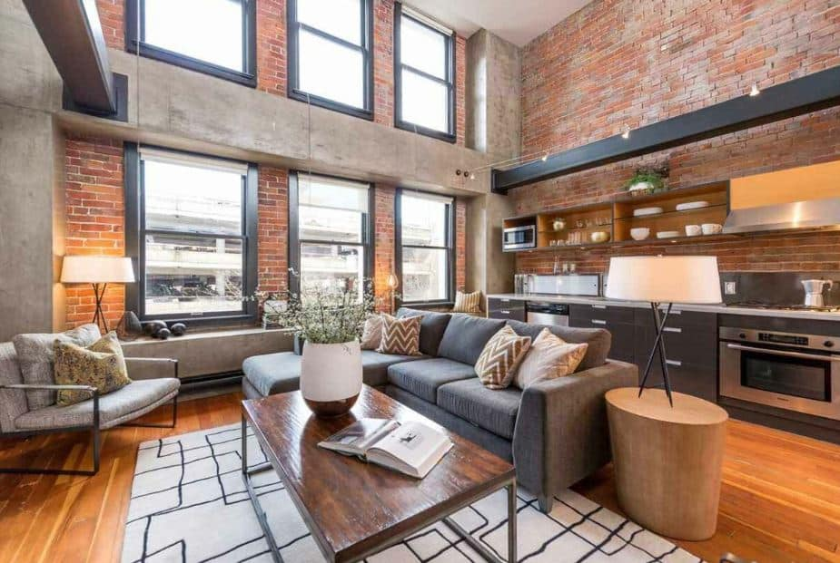 industrial style living room - Layout ideas for Studio apartments