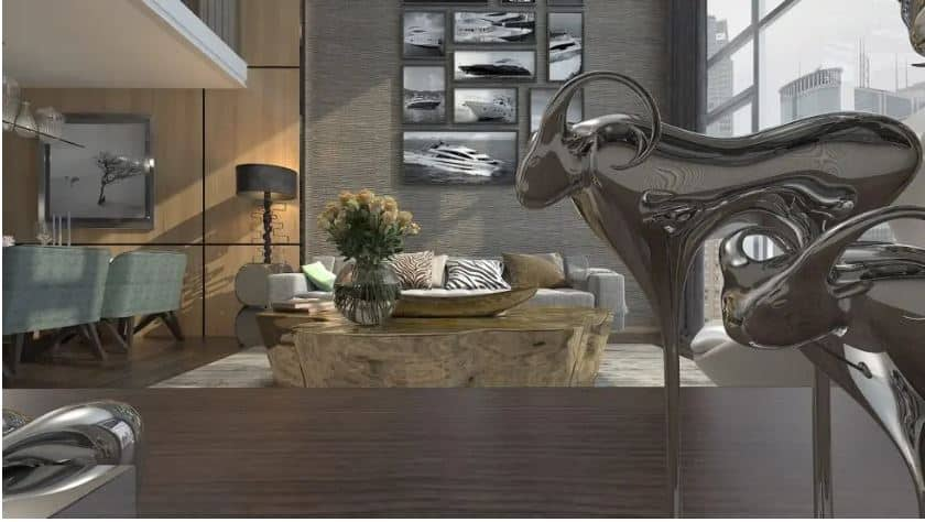 Space with two environments in gray and wood - 4 Technological solutions that shape the future of Interior Design