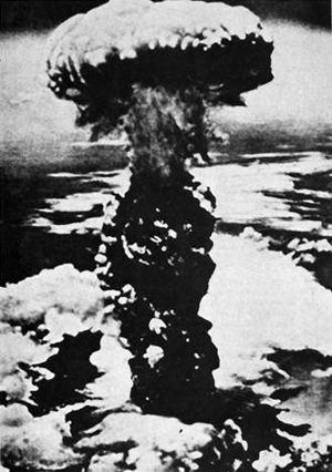 Nagasaki, August 9, 1945, a few minutes after the bombing. Photographed from a U.S. bomber. From documents returned to Japan by the United States