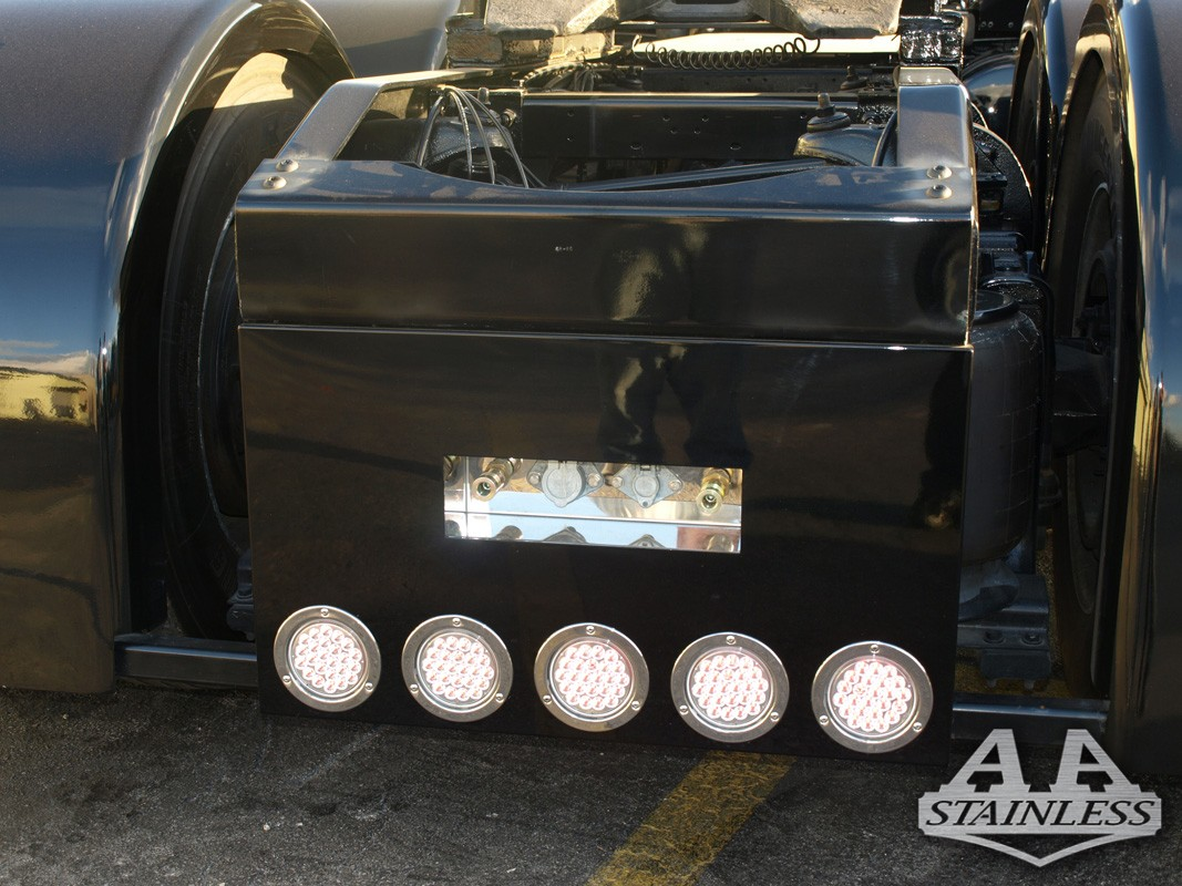 """T Bumper (Square) Universal Rear For Paint 5 LED 4"""" (Lights not included) - CUSTOM  Part #: 000008.2.1.554  Call For Price"""