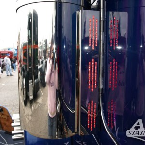 Air Cleaner Bar SS 3 Ligths 3Lines Back for Peterbilt 370 Series  Part #: 010106.1.1.1332  $265 /pair