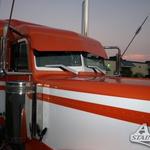 Air Cleaner Bar SS 3 Ligths 3Lines Front for Peterbilt 370 Series  Part #: 010106.1.1.1331 $265 /pair