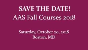 Fall Courses 2018