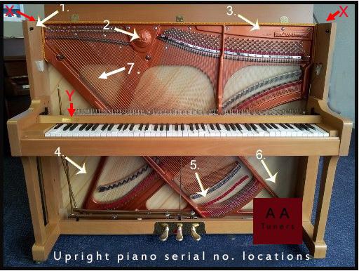 Serial Number  AA PIANO TUNERS UK TEL 0791 485 4072