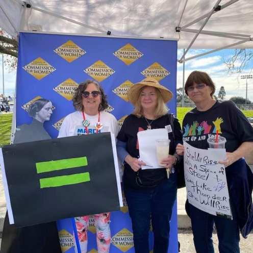Lucy, Pam and Sabrina Lompoc-Vandenberg Branch joined the powerful March in Santa Maria CA.
